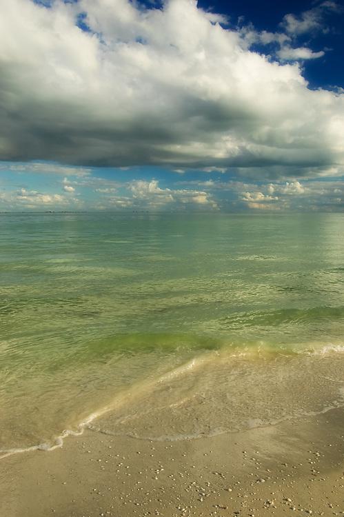 Portrait of the beach on Sanibel Island.