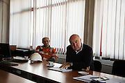 Arcelor Mittal. Omarska Mine near Prijedor.<br /> <br /> Nenad Marijanovic, right.<br /> <br /> Matt Lutton / Boreal Collective for the Financial Times.