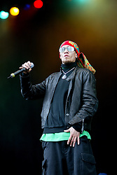Taboo, The Black Eyed Peas perform on the main stage at T in the Park 2004..Pic ©2010 Michael Schofield. All Rights Reserved.