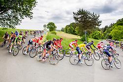 Radsport: 36. Bayern Rundfahrt 2015 / 5. Etappe, Hassfurt - Nuernberg, 17.05.2015<br /> Cycling: 36th Tour of Bavaria 2015 / Stage 5, <br /> Hassfurt - Nuernberg, 17.05.2015<br /> # 32 Dowsett, Alex (GBR, MOVISTAR TEAM) , , Gelbes Trikot Gesamtfuehrender / Yellow Leader Jersey