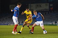 Daniel Csoka of AFC Wimbledon in action during the EFL Sky Bet League 1 match between Portsmouth and AFC Wimbledon at Fratton Park, Portsmouth, England on 19 January 2021.