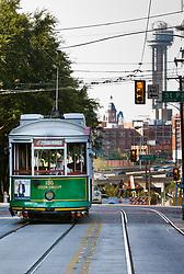McKinney Avenue Trolley Car, Dallas, Texas, USA.
