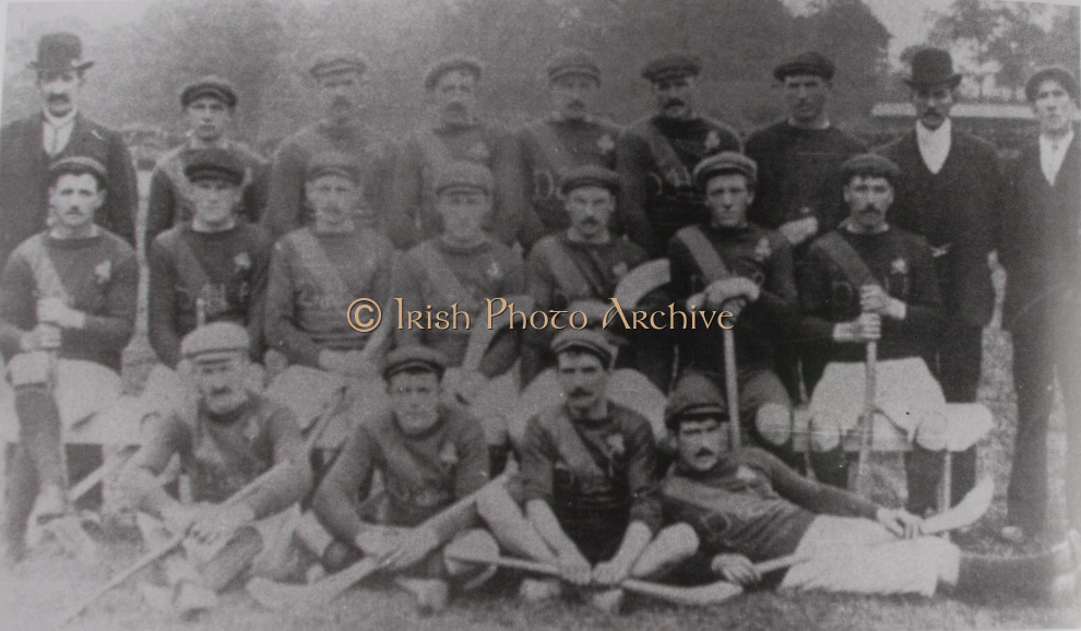 Cork (Dungourney) - All Ireland Hurling Champions 1902. Back Row: J Quirke (Pres), M Shea, W Daly, W Fitzgibbons, D McGrath, J Daly, J Shea, W O'Brien  (Co Board), E Aherne ( Hon Sec). Middle Row: J Desmond, P Leahy, S Riordan, J Kelleher (Capt), T Coughlan, W O'Neill, T Mahony. Front Row: J Ronayne, W Parfrey, J O'LEary, D O'Keeffe.