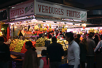 Fruit and Vegetable market in Barcelona, Spain<br />