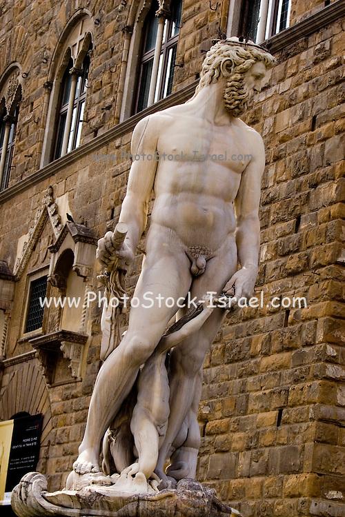 Italy, Tuscany, Florence, Hercules Statue, Piazza della Signoria,