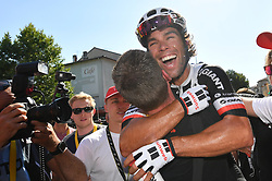 July 18, 2017 - Romans-Sur-Isere, FRANCE - Australian Michael Matthews of Team Sunweb celebrates after winning the sixteenth stage of the 104th edition of the Tour de France cycling race, 165km from Le Puy-en-Velay to Romans-sur-Isere, France, Tuesday 18 July 2017. This year's Tour de France takes place from July first to July 23rd...BELGA PHOTO DAVID STOCKMAN (Credit Image: © David Stockman/Belga via ZUMA Press)