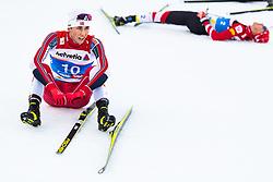 February 22, 2019 - Seefeld In Tirol, AUSTRIA - 190222 Jarl Magnus Riiber of Norway looks dejected after  competing in men's nordic combined 10 km Individual Gundersen during the FIS Nordic World Ski Championships on February 22, 2019 in Seefeld in Tirol..Photo: Joel Marklund / BILDBYRÃ…N / kod JM / 87882 (Credit Image: © Joel Marklund/Bildbyran via ZUMA Press)