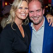 NLD/Amsterdam/20181030 - Boekpresentatie Wim Kieft - De Terugkeer, schrijver Michel van den Berg en partner Antoinette Scheulderman