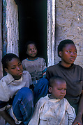 Four siblings orphaned by AIDS, Lusaka, Zambia.