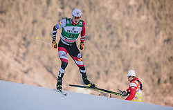 11.01.2020, Stadio del Fondo, Lago di Tesero, ITA, FIS Weltcup Nordische Kombination, Langlauf, im Bild Martin Fritz (AUT) // Martin Fritz (AUT) during Cross Country Competition of FIS Nordic Combined World Cup at the Stadio del Fondo in Lago di Tesero, Italy on 2020/01/11. EXPA Pictures © 2020, PhotoCredit: EXPA/ JFK