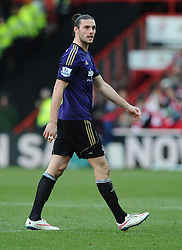 West Ham's Andy Carroll  - Photo mandatory by-line: Joe Meredith/JMP - Mobile: 07966 386802 - 25/01/2015 - SPORT - Football - Bristol - Ashton Gate - Bristol City v West Ham United - FA Cup Fourth Round