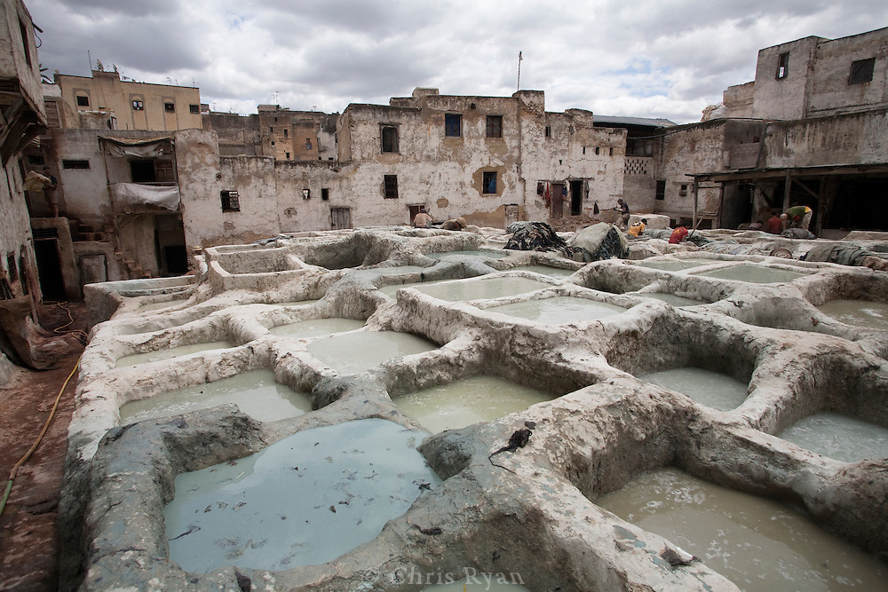 Centuries-old tannery, Fez, Morocco