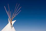 Tipi top on Yakima Indian Reservation<br />