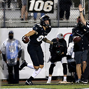 FL - OCTOBER 03:  Jacob Harris #87 of the Central Florida Knights celebrates a touchdown reception against the Tulsa Golden Hurricane at Bright House Networks Stadium on October 3, 2020 in Orlando, Florida. (Photo by Alex Menendez/Getty Images) *** Local Caption *** Jacob Harris