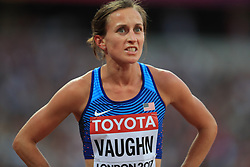 USA's Sara Vaughn reacts after the Women's 1500m heat one during day one of the 2017 IAAF World Championships at the London Stadium. PRESS ASSOCIATION Photo. Picture date: Friday August 4, 2017. See PA story ATHLETICS World. Photo credit should read: Adam Davy/PA Wire. RESTRICTIONS: Editorial use only. No transmission of sound or moving images and no video simulation