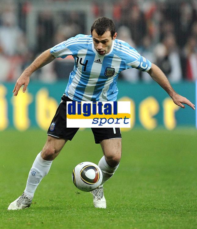 Fotball<br /> Tyskland v Argentina<br /> 03.03.2010<br /> Foto: Witters/Digitalsport<br /> NORWAY ONLY<br /> <br /> Javier Mascherano Argentinien<br /> Testspiel Deutschland - Argentinien