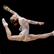 Jiaxin Tan of China on the Floor during the 2015 World Artistic Gymnastics Championships at The SSE Hydro on October 24, 2015 in Glasgow, Scotland