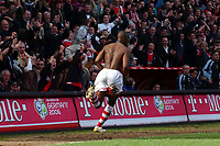 Photo: Olly Greenwood.<br />Charlton Athletic v Portsmouth. The Barclays Premiership. 17/04/2006. Charltons Darren Bent celebrates scoring the winning goal