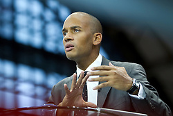 © Licensed to London News Pictures. 30/09/2012. Manchester, UK . Chuka Umunna talks to Sky News . Labour Party Conference Day 1 at Manchester Central . Photo credit : Joel Goodman/LNP