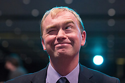** FILE PIC - Tim Farron has been elected leader of the Liberal Democrat Party**© Licensed to London News Pictures . 07/10/2014 . Glasgow , UK . TIM FARRON , President of the Liberal Democrats and MP for Westmorland and Lonsdale , sits and winks as the audience applaud his speech to the conference . The Liberal Democrat Party Conference 2014 at the Scottish Exhibition and Conference Centre in Glasgow . Photo credit : Joel Goodman/LNP
