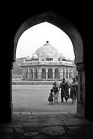 Isa Khan's tomb within the Humayun's Tomb complex, in Delhi, India