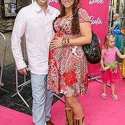 NLD/Amsterdam/20120909- Filmpremiere Barbie, Jessica Mendels met partner Paul Bom