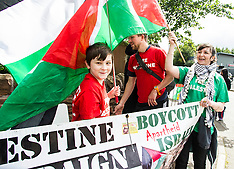 Anti-Israel sporting protest | Edinburgh | 23 July 2015