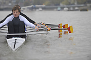 London, Great Britain, TSS. Men's H/W Quad, Iztok COP.training on the River Thames Chiswick to Putney.  [Mandatory Credit. Peter Spurrier/Intersport Images]