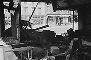 Riot damage following assassination of Martin Luther King Jnr, 1968.
