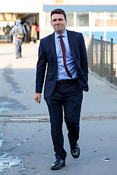 © Licensed to London News Pictures. 25/08/2015. Stevenage, UK. Labour Party leader candidate Andy Burnham attending a husting for Radio 5 at Stevenage Arts & Leisure Centre in Stevenage on Tuesday, 25 August 2015. Photo credit: Tolga Akmen/LNP