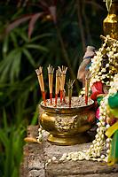 Buddhist altar, Four Seasons Resort Chiang Mai, Mae Rim district, near Chiang Mai, Northern Thailand