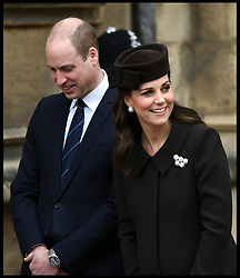 April 1, 2018 - London, United Kingdom - PRINCE WILLIAM, Duke of Cambridge..CATHERINE, Duchess of Cambridge, join the queen for the Easter Day service at St Georges Chapel, at Windsor Castle. (Credit Image: © Andrew Parsons/i-Images via ZUMA Press)