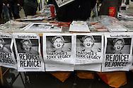 Thatcher Death Party Trafalgar Square