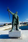 Statue of Croatian hero Branimir, Nin, Croatia