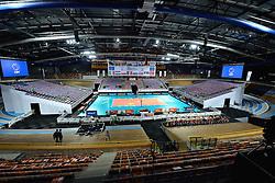 27-09-2015 NED: Volleyball European Championship Nederland - Polen, Apeldoorn<br /> Nederland verslaat Polen met 3-1 / Omnisport Centrum Apeldoorn klaar voor de wedstrijd