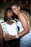 l to r: Brianna Bigham and Shante Timberlake at ' Rising Icons ' featuring The Dream presented by Grey Goose, Complex Magazine & BET held at The Hiro Ballroom on July 30, 2009 in New York City