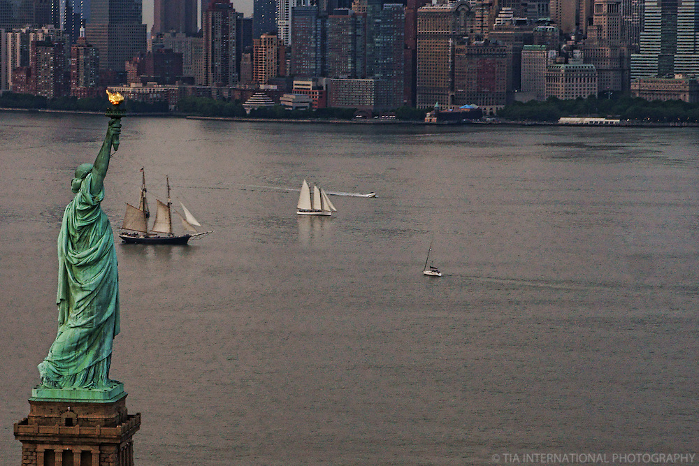 Statue of Liberty & New York Bay (Color)