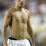 USA midfielder Landon Donovan (10) leaves the field after losing a CONCACAF Gold Cup soccer match between the United States and Panama on Saturday, June 11, 2011, at Raymond James Stadium in Tampa, Fla. (AP Photo/Alex Menendez)