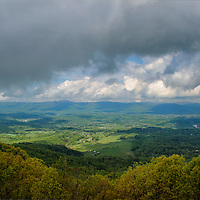 """""""When the Clouds Parted""""<br /> <br /> When the storm clouds part, and the sun shines down on the Shenandoah Valley, enjoy the wonder of colors, tones, and shadows!!<br /> <br /> The Blue Ridge Mountains by Rachel Cohen"""