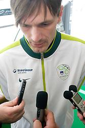 Milivoje Novakovic of Slovenian National Football team during opening of Photo exhibition in Hypo bank, on May 19, 2010 in Ciytpark, BTC, Ljubljana, Slovenia. (Photo by Vid Ponikvar / Sportida)