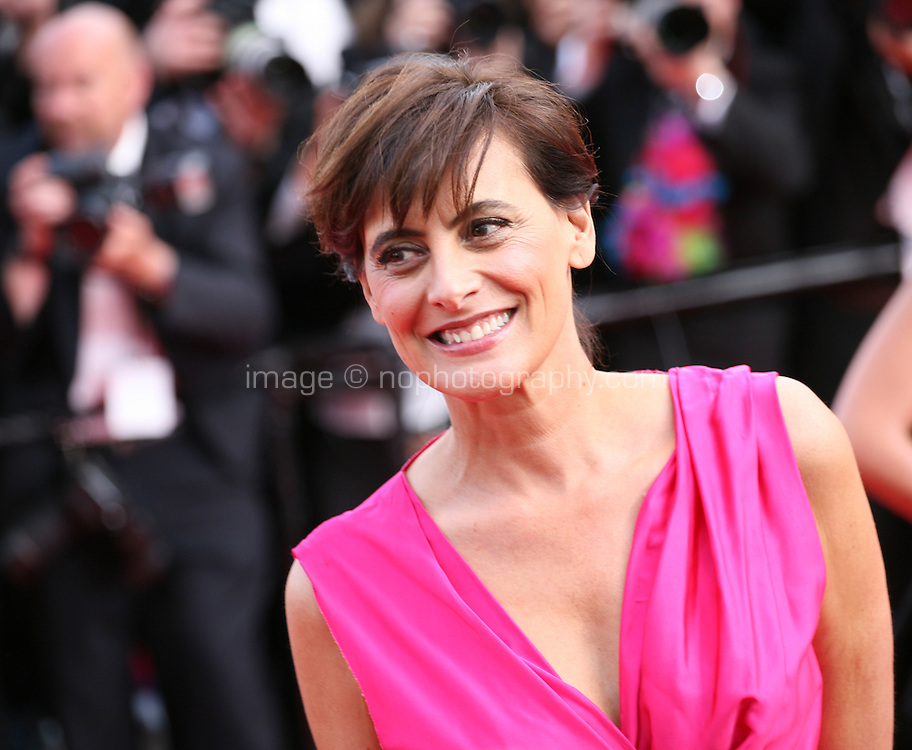 Ines de la Fressange at the gala screening Madagascar 3: Europe's Most Wanted at the 65th Cannes Film Festival. On Friday 18th May 2012 in Cannes Film Festival, France.