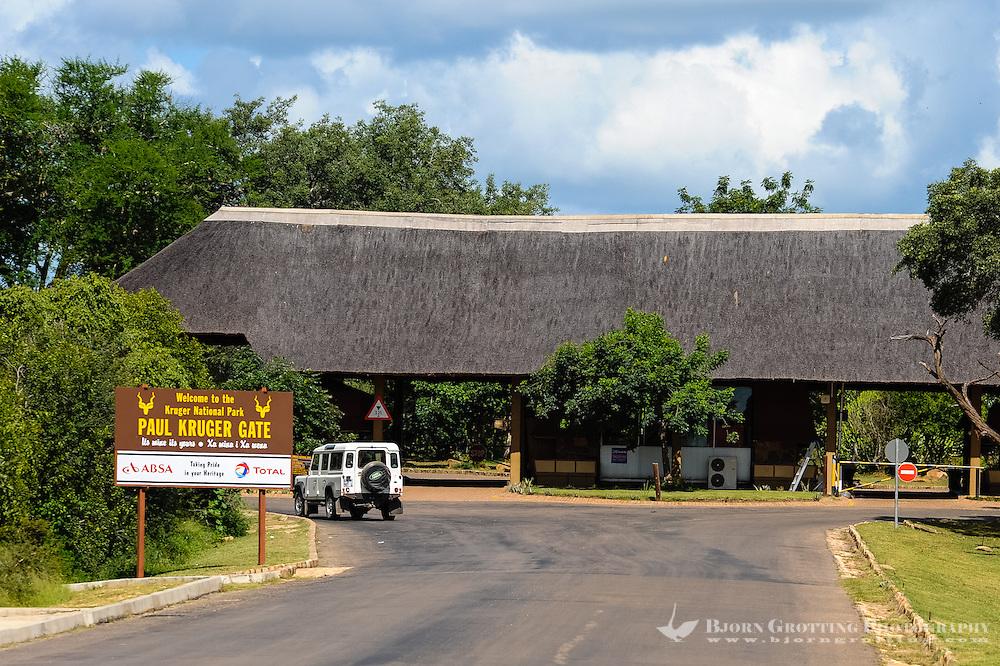 Paul Kruger Gate. Kruger National Park, South Africa.