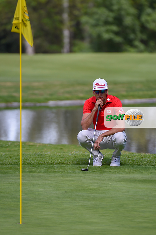 Rafael Cabrera Bello (ESP) lines up his putt on 6 during round 1 of the World Golf Championships, Mexico, Club De Golf Chapultepec, Mexico City, Mexico. 2/21/2019.<br /> Picture: Golffile | Ken Murray<br /> <br /> <br /> All photo usage must carry mandatory copyright credit (© Golffile | Ken Murray)