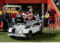 5 June 2013; Cian Healy, British & Irish Lions, leaves the field after picking up an injury during the first half. British & Irish Lions Tour 2013, Western Force v British & Irish Lions, Patterson's Stadium, Perth, Australia. Picture credit: Stephen McCarthy / SPORTSFILE