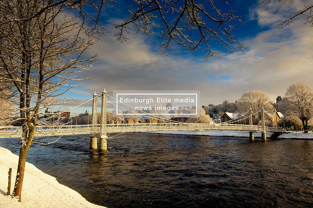 A footbridge over the River Ness in Inverness, Scotland<br /> <br /> (c) Andrew Wilson   Edinburgh Elite media