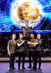 AJ Pritchard, Neil Jones, Pasha Kovalev, Giovanni Pernice and Gorka Marquez attending the Strictly Come Dancing Professionals UK Tour at Elstree Studios, London.