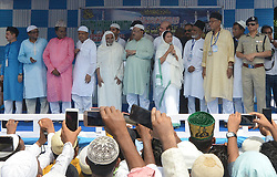 June 16, 2018 - Kolkata, West Bengal, India - Eid Celebration - West Bengal Chief Minister Smt Mamata Banerjee greets Muslims after offering namaz to celebrate Eid al fitar in red road Kolkata. (Credit Image: © Sandip Saha/Pacific Press via ZUMA Wire)