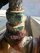 Corroded water pipe