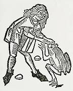 'Extracting the precious stone popularly believed to be in a toad's head. Prized as a talisman, a touch with a toadstone (crapaudina) was an antidote for any venom.  Woodcut from ''Ortus Sanitatis'', Strasbourg, 1483 by Johannis de Cuba.'
