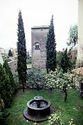 Water fountain in garden at Viterbo, Lazio region, Italy 1998